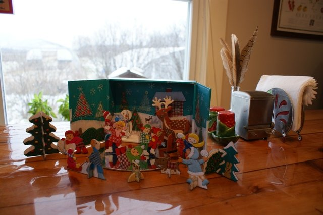 Winter time kitchen table scene