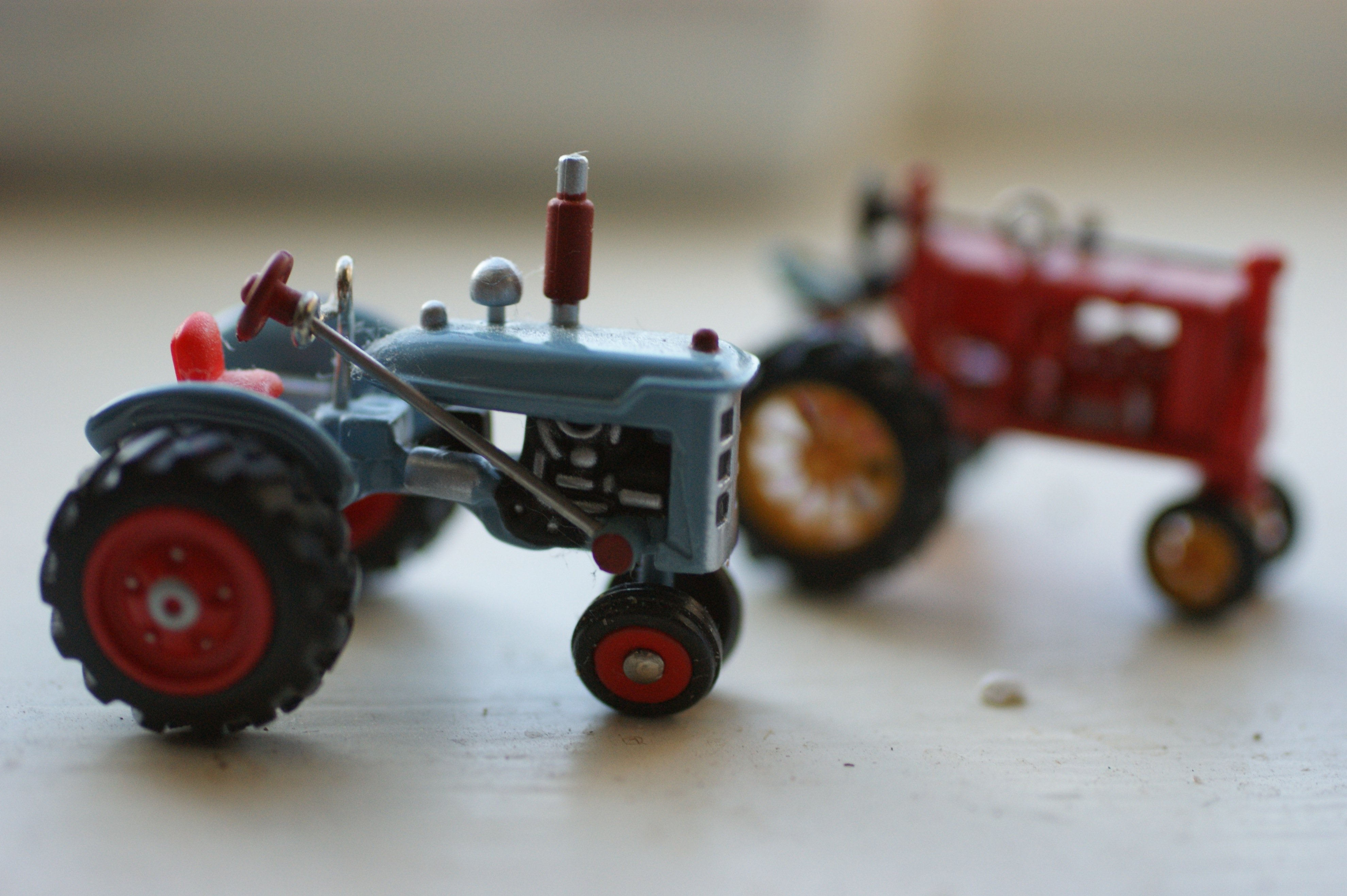 tiny tractors On and Off and On and Off