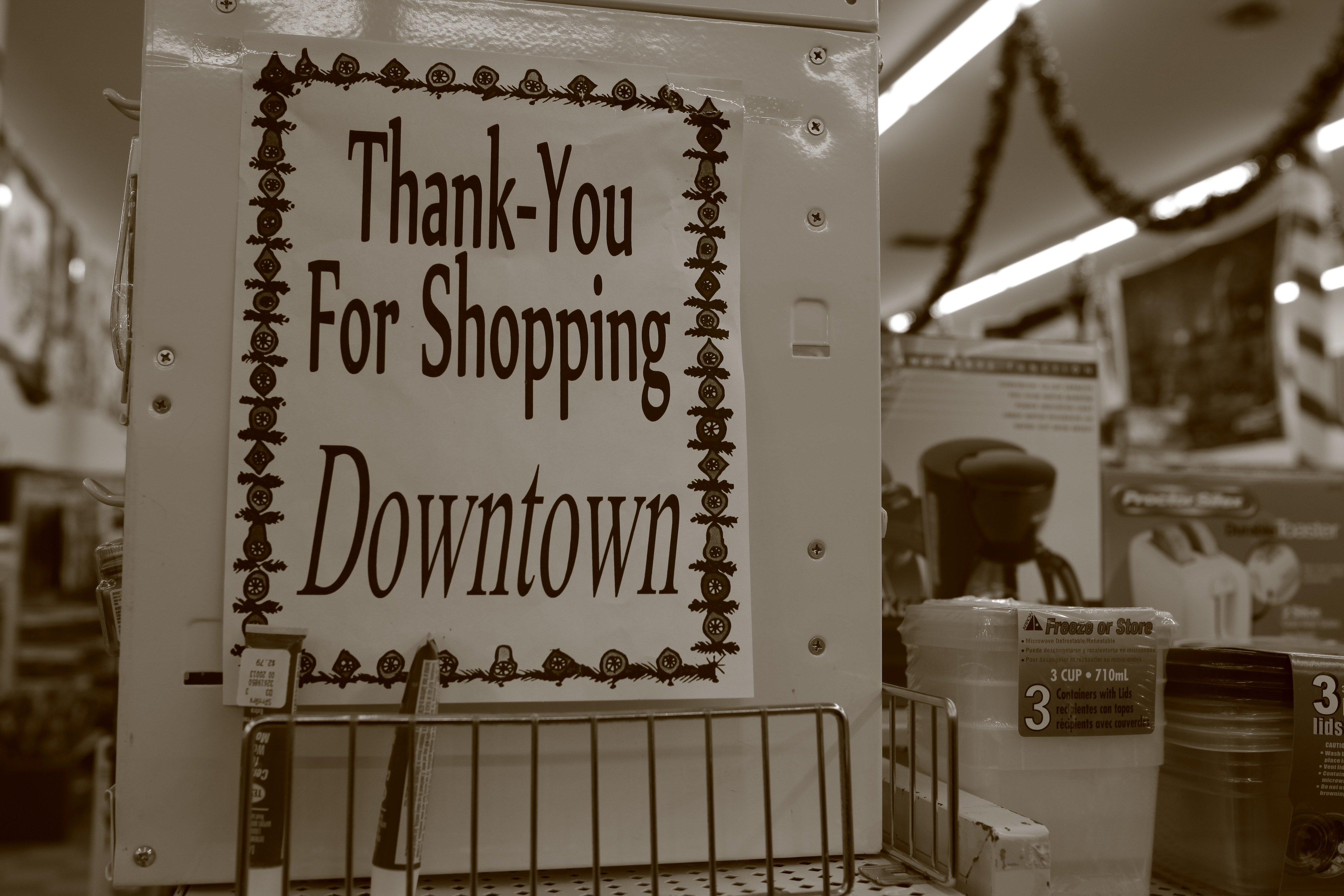 thank you for shopping downtown