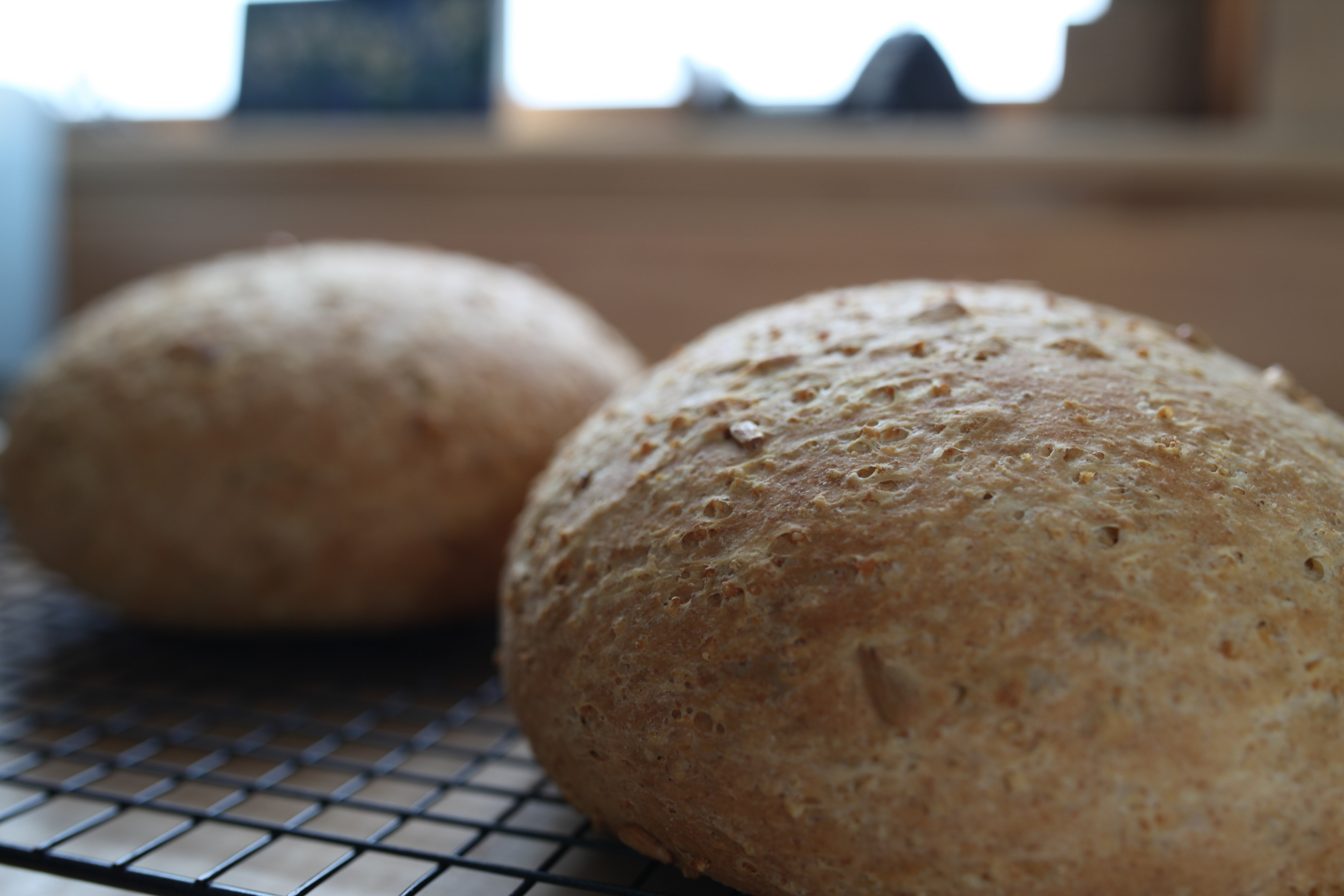 baked millet bread close