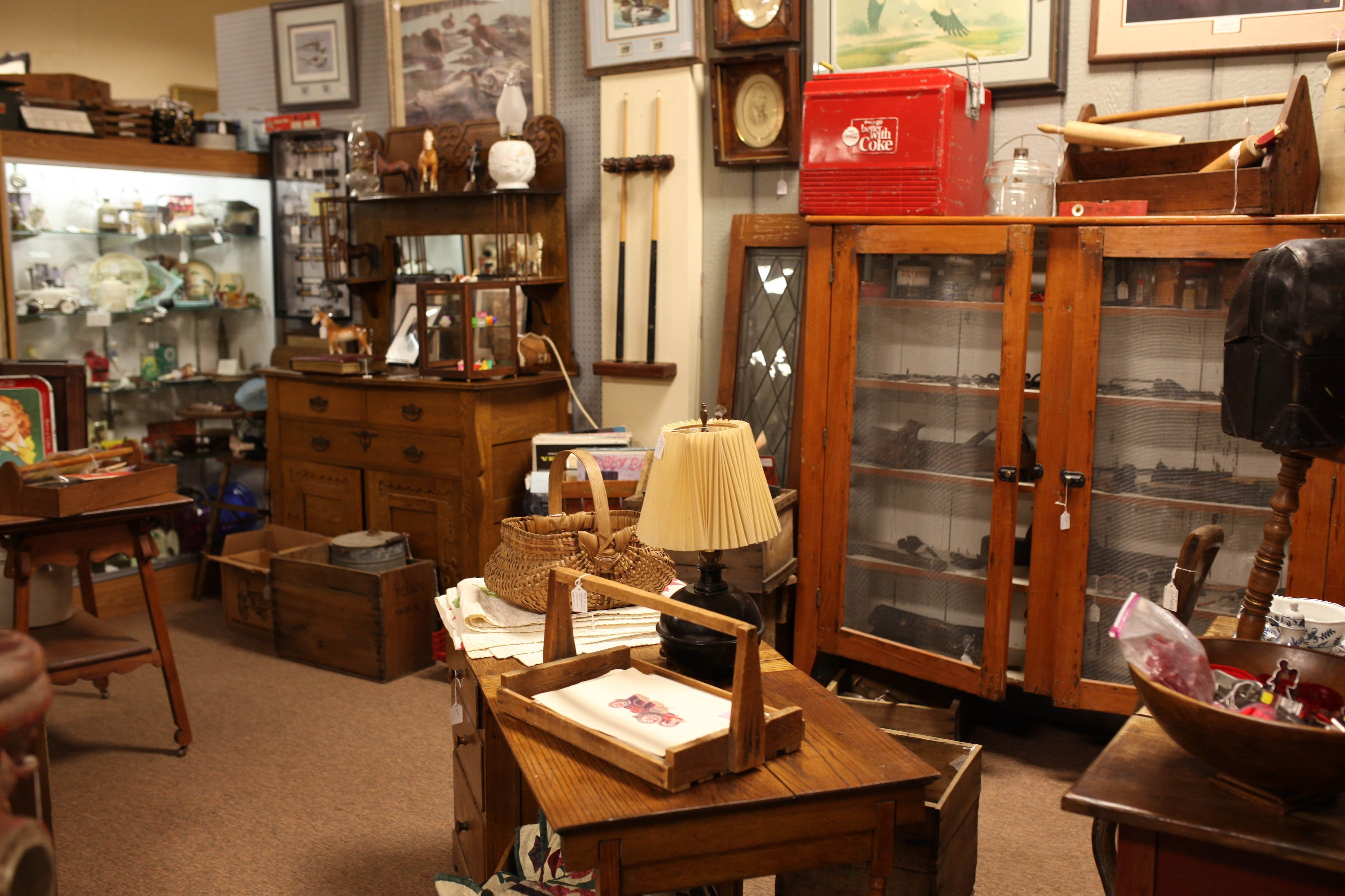 antiques booth