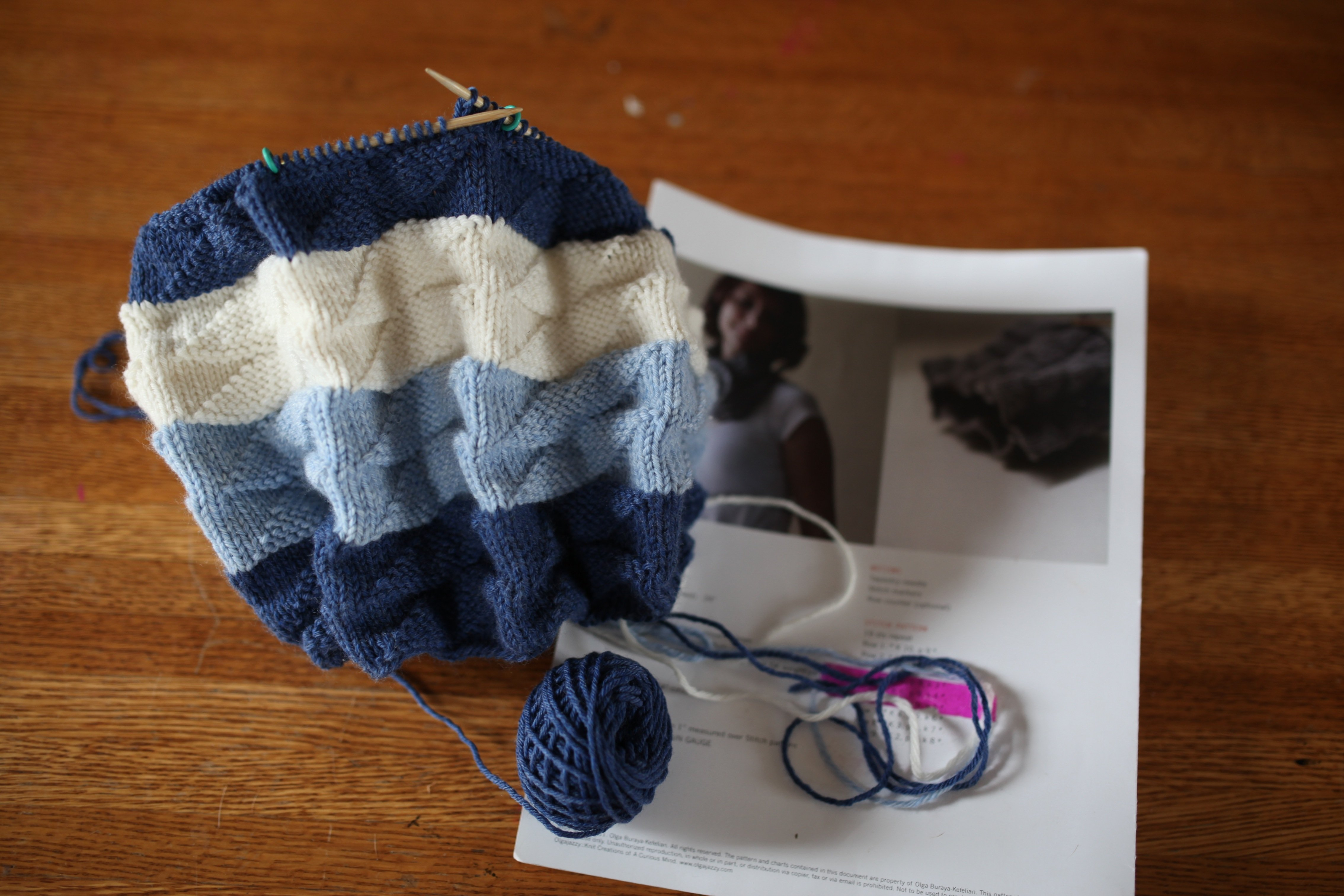 knitting in blue #1
