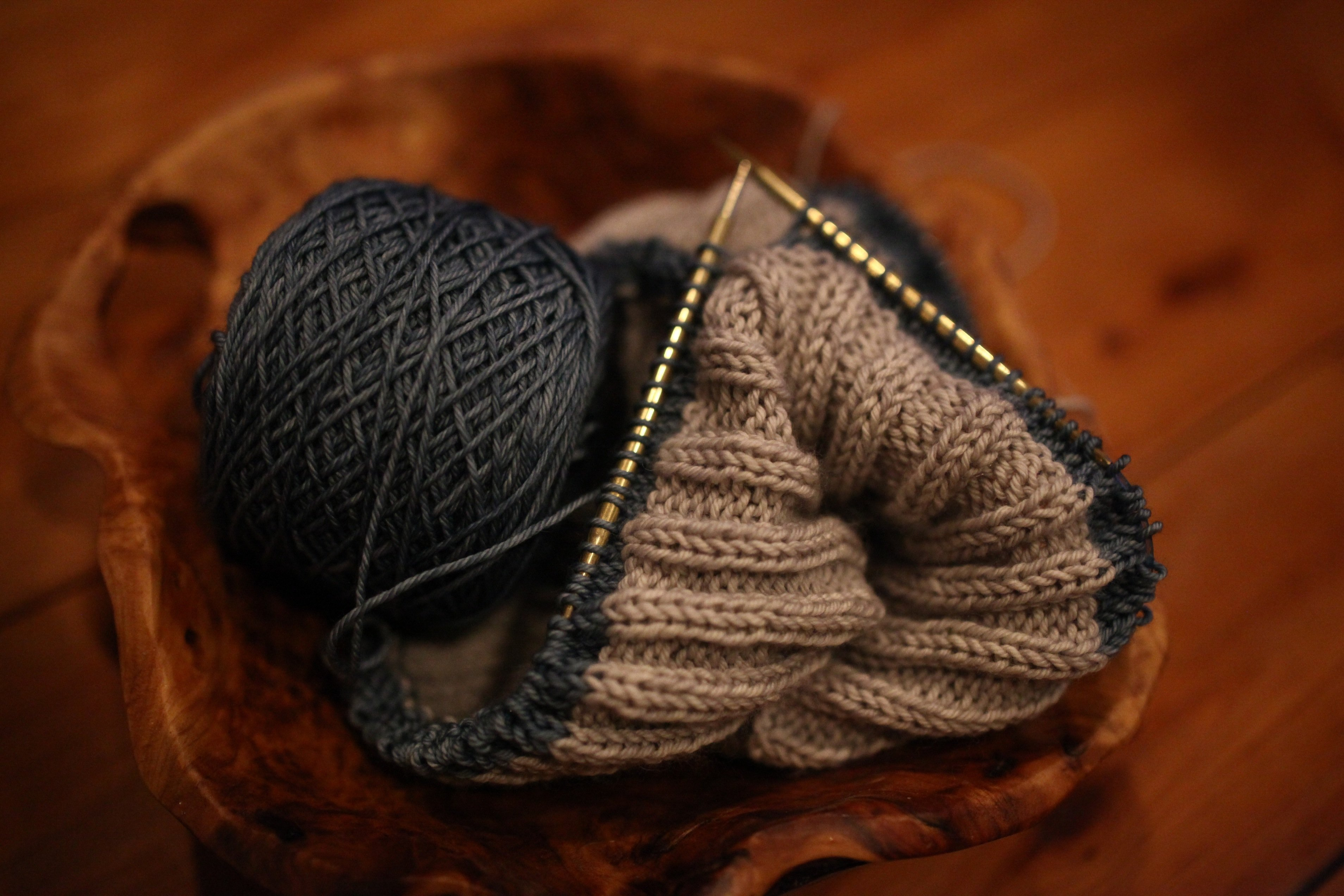 grey:blue spring knitting