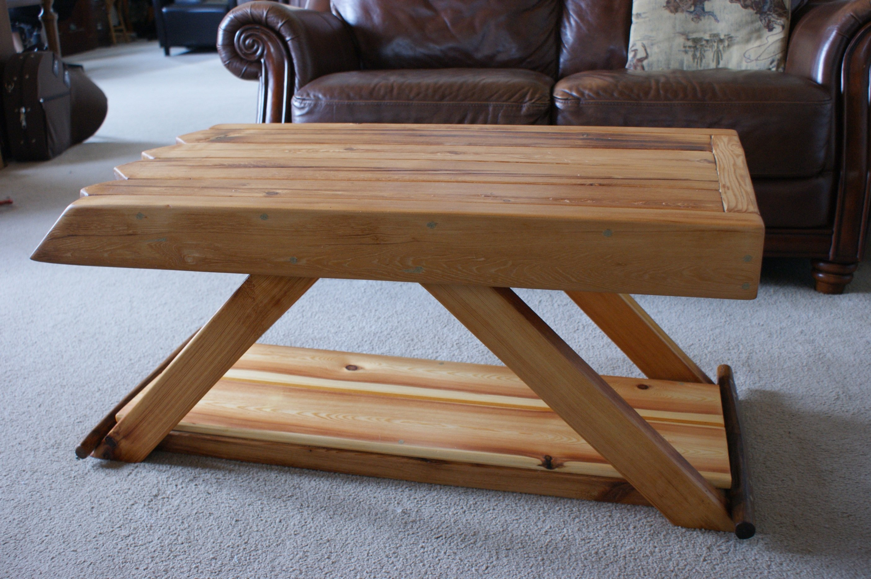 New coffee table from old barn