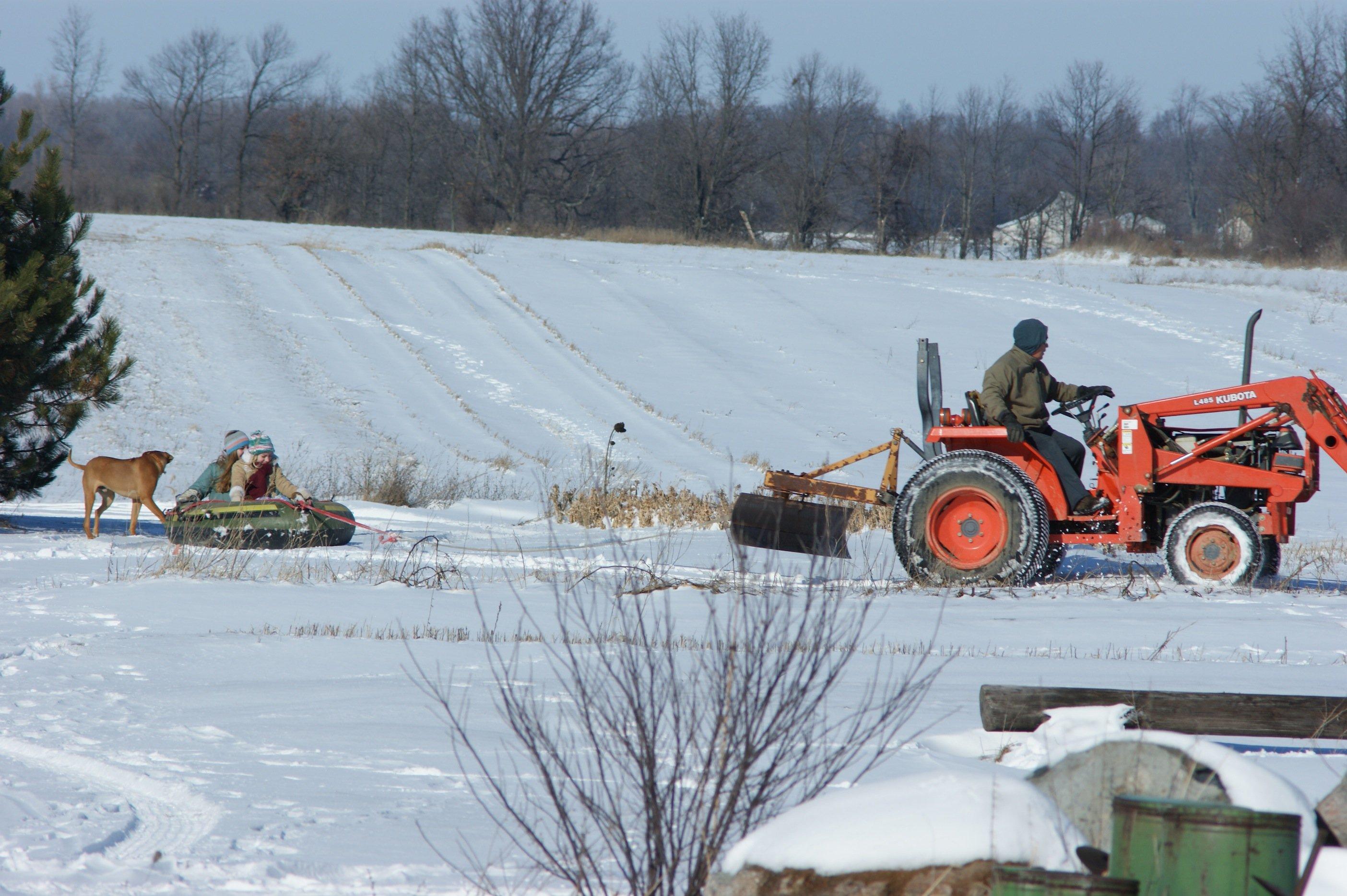 Tractor sledding #1