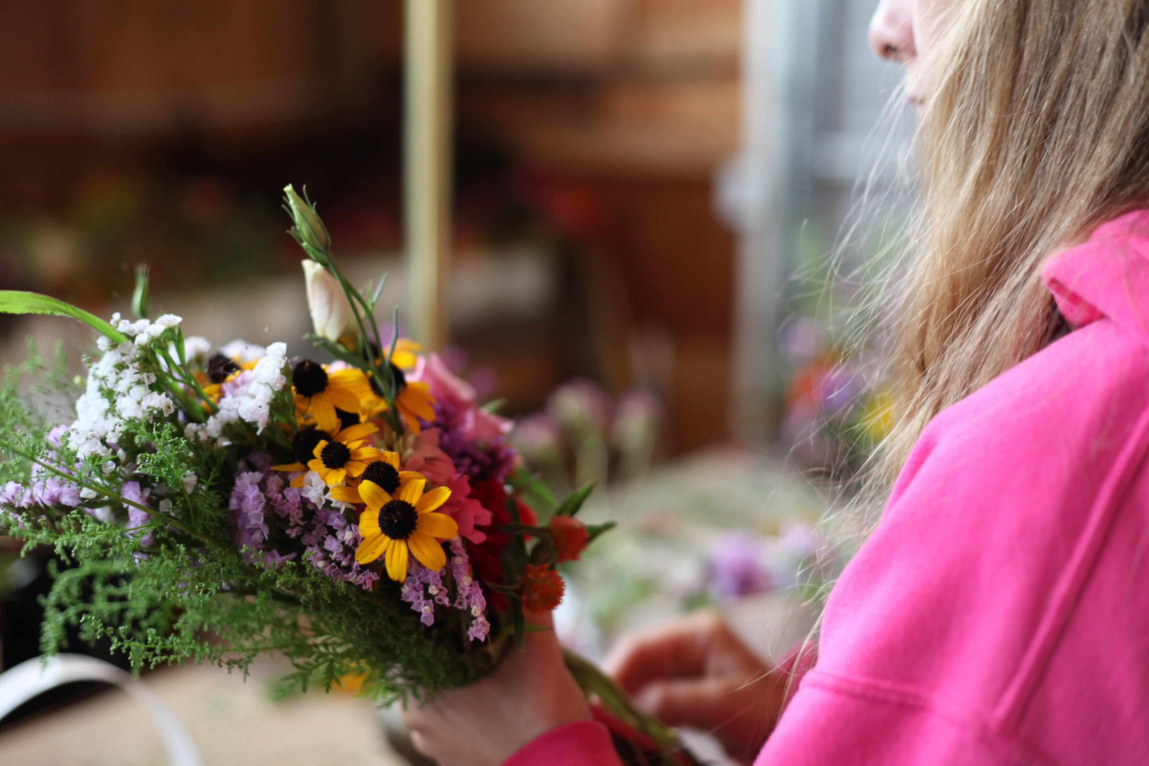 cody making bouquet