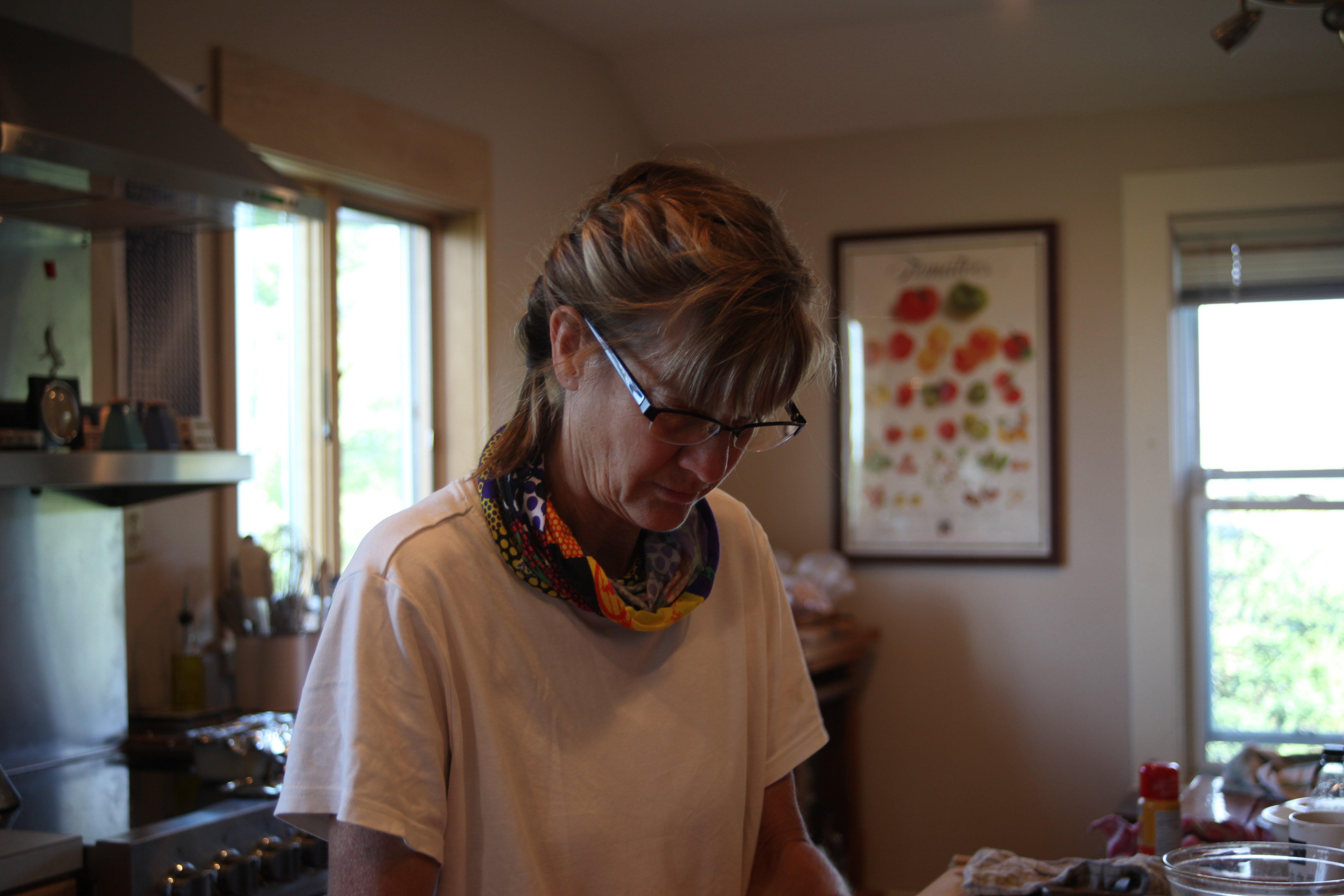me working in kitchen