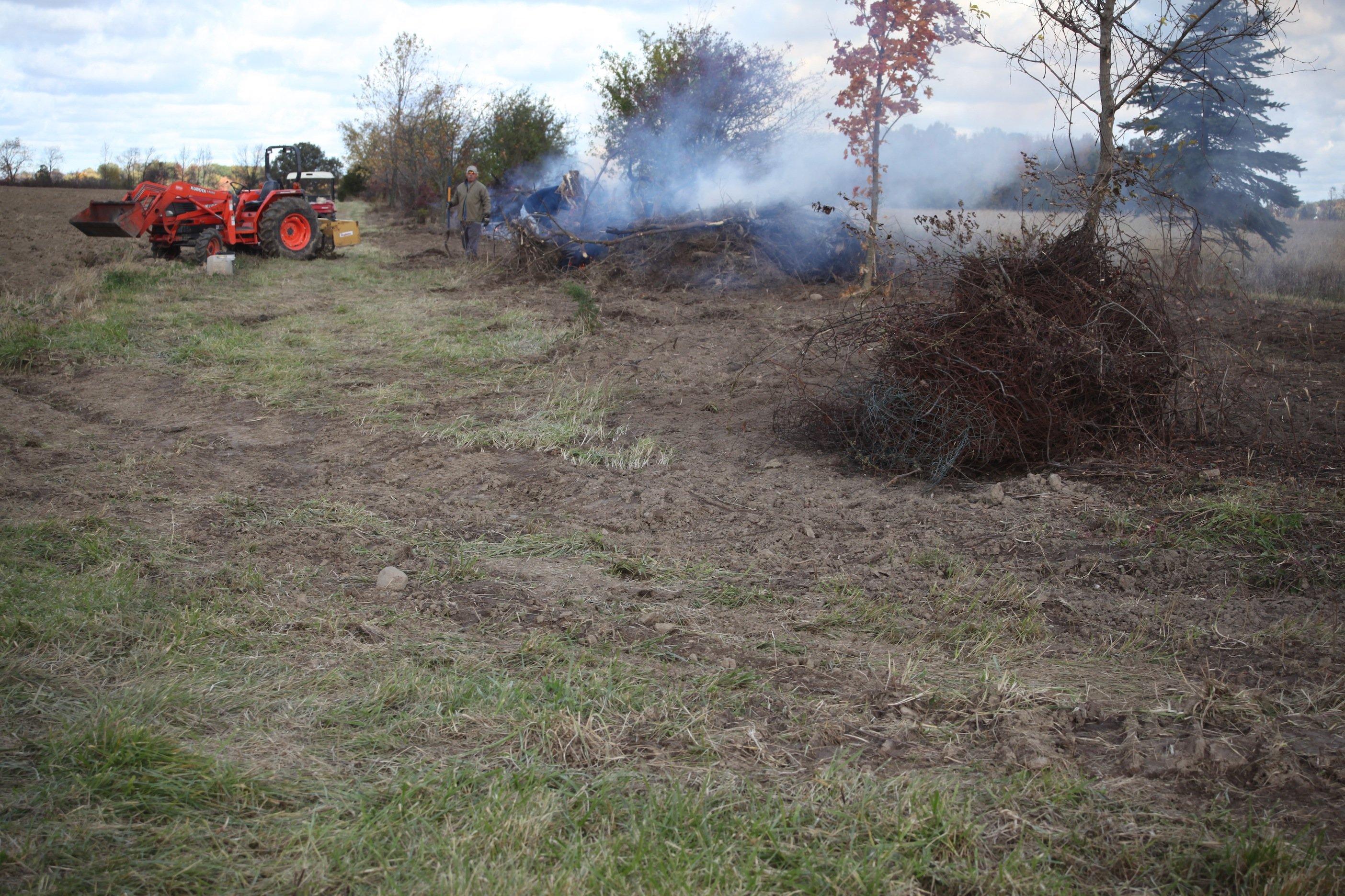 burning piles #3