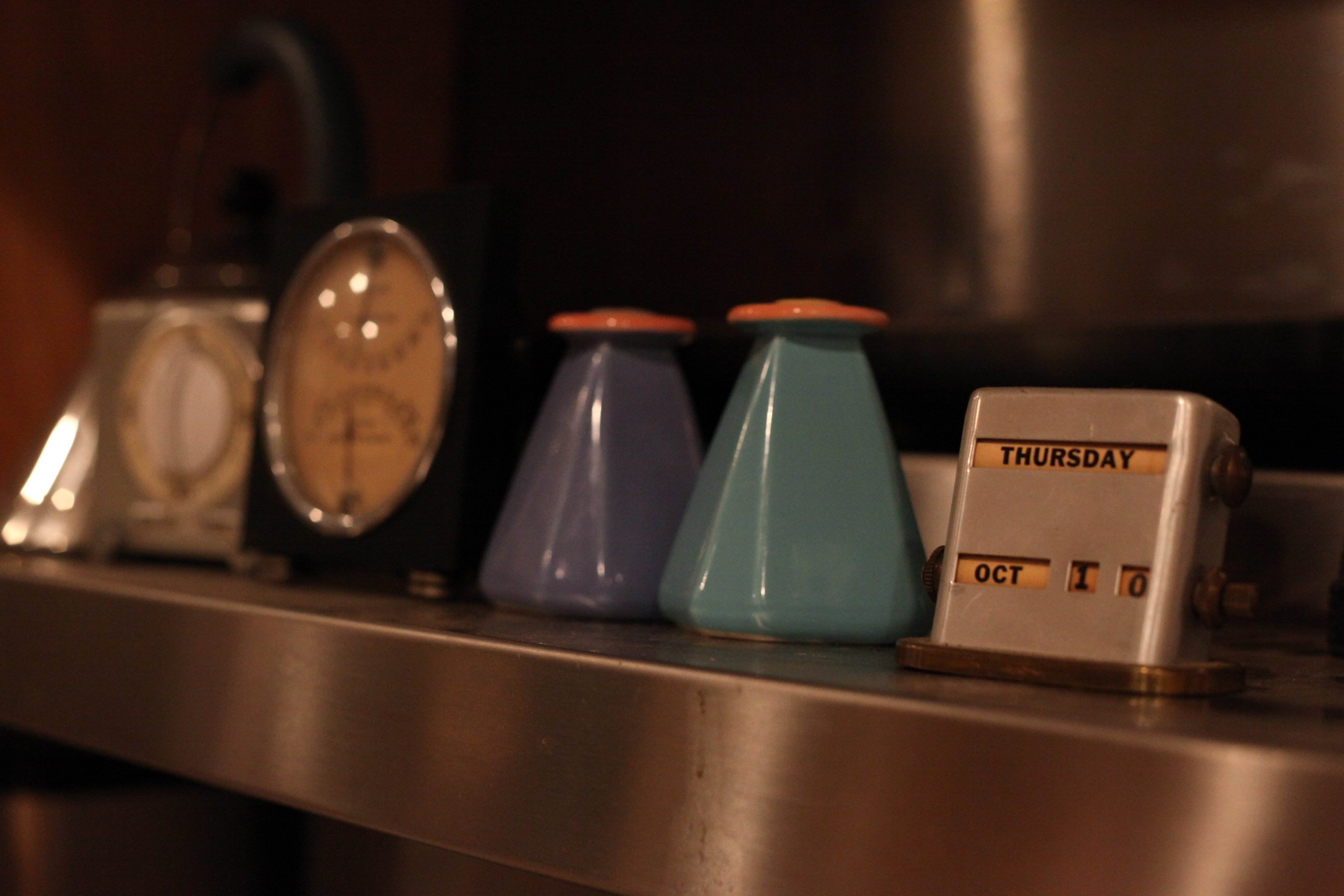 shelf on the stove
