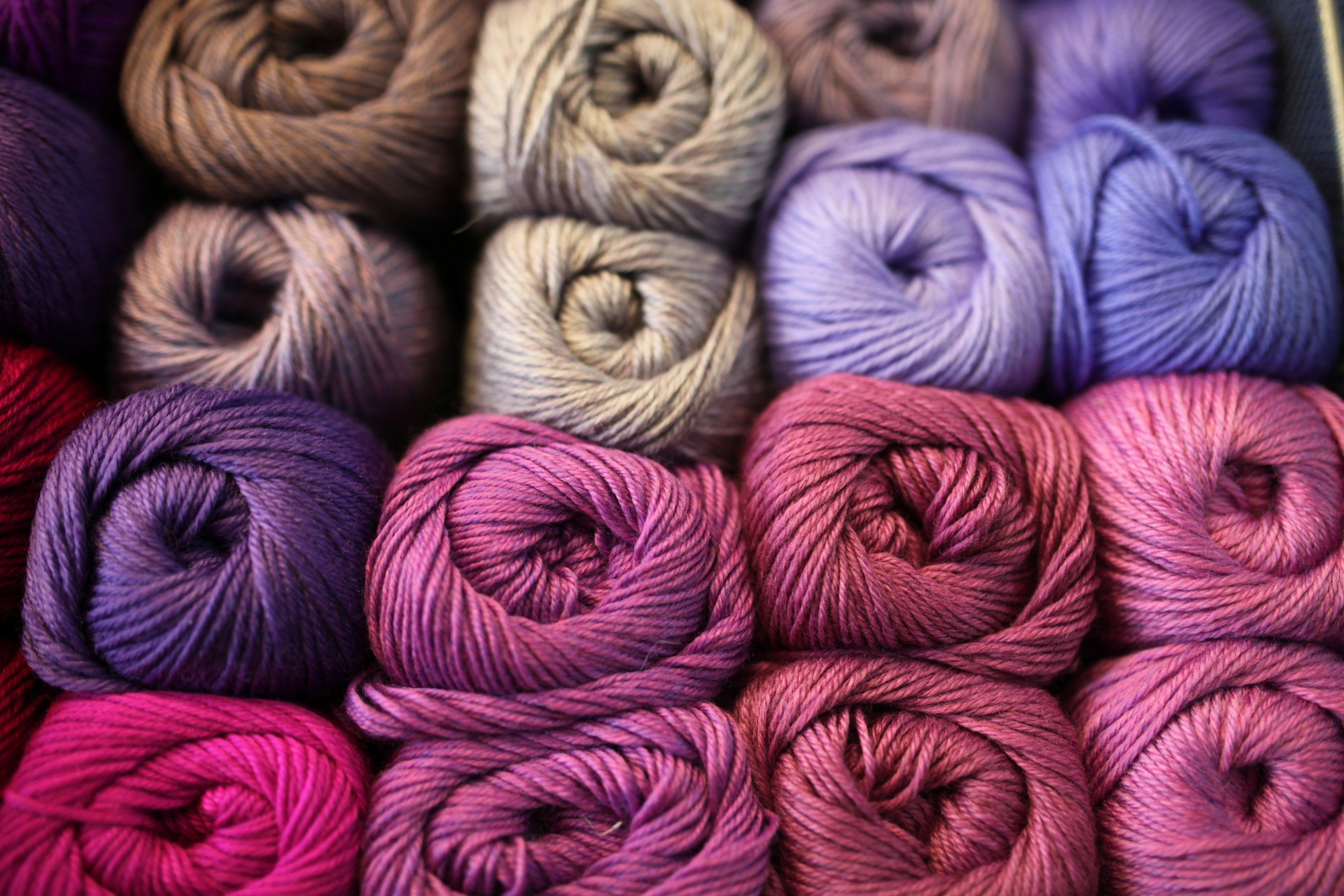 yarn purple