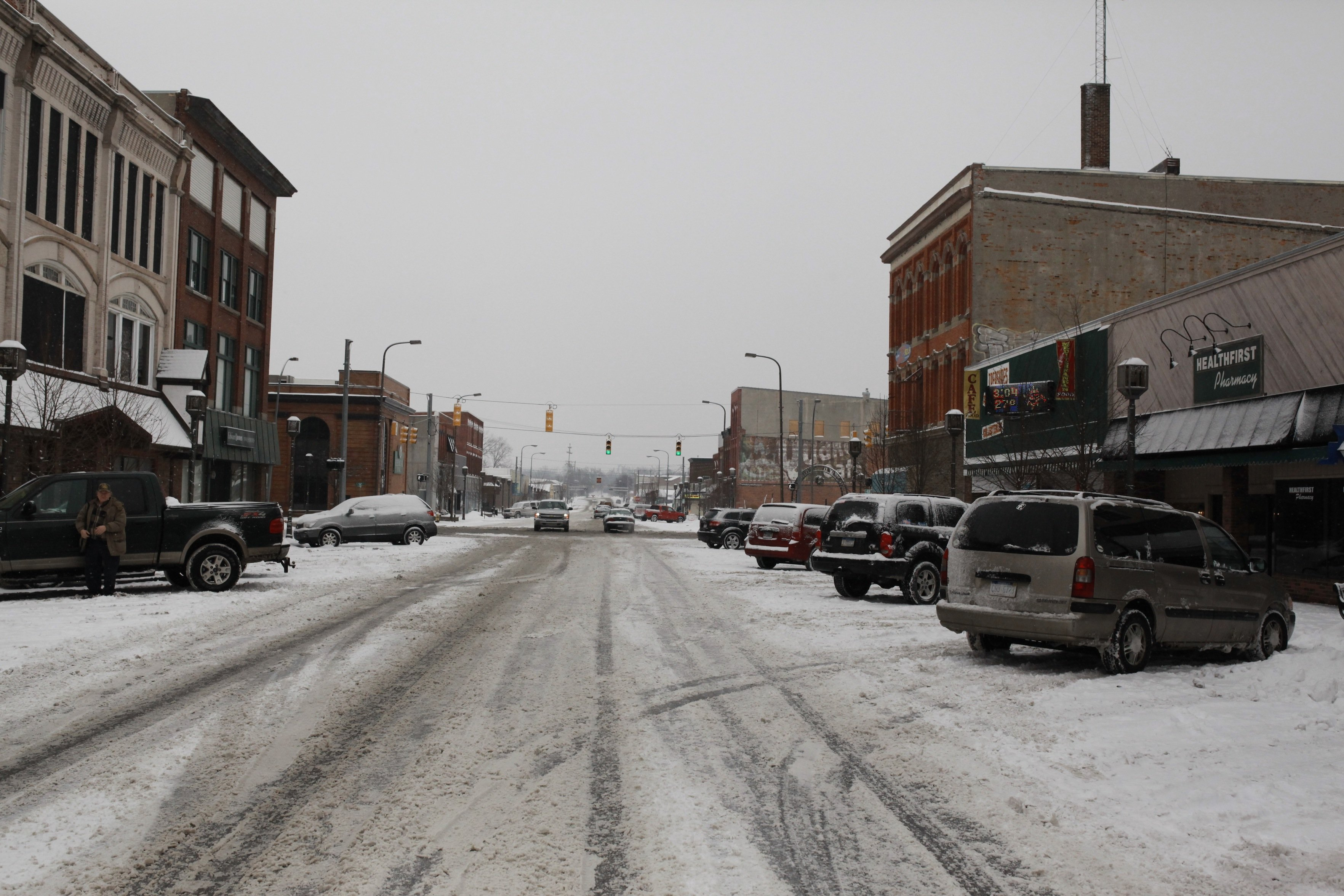 downtown owosso in winter