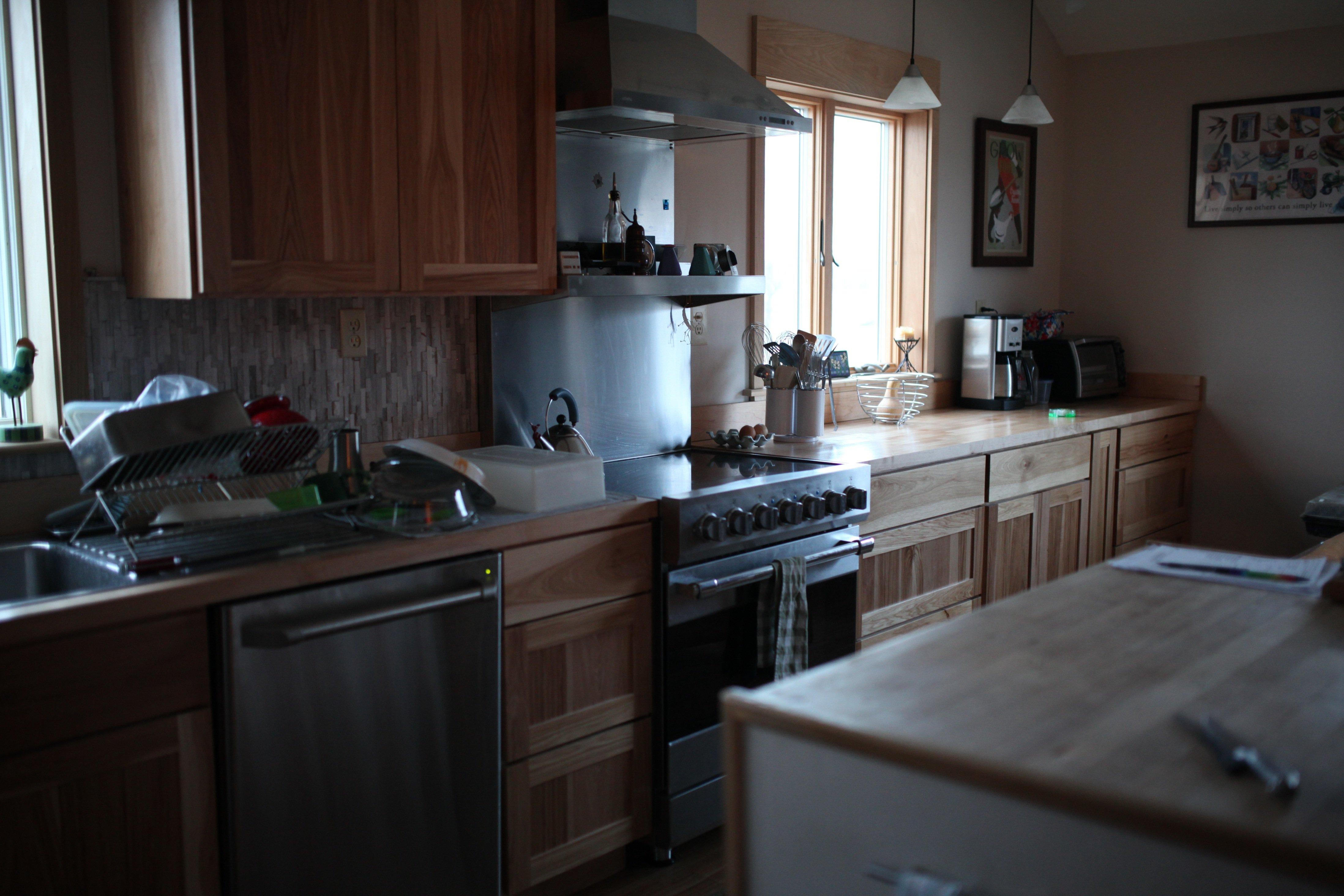 kitchen in spring