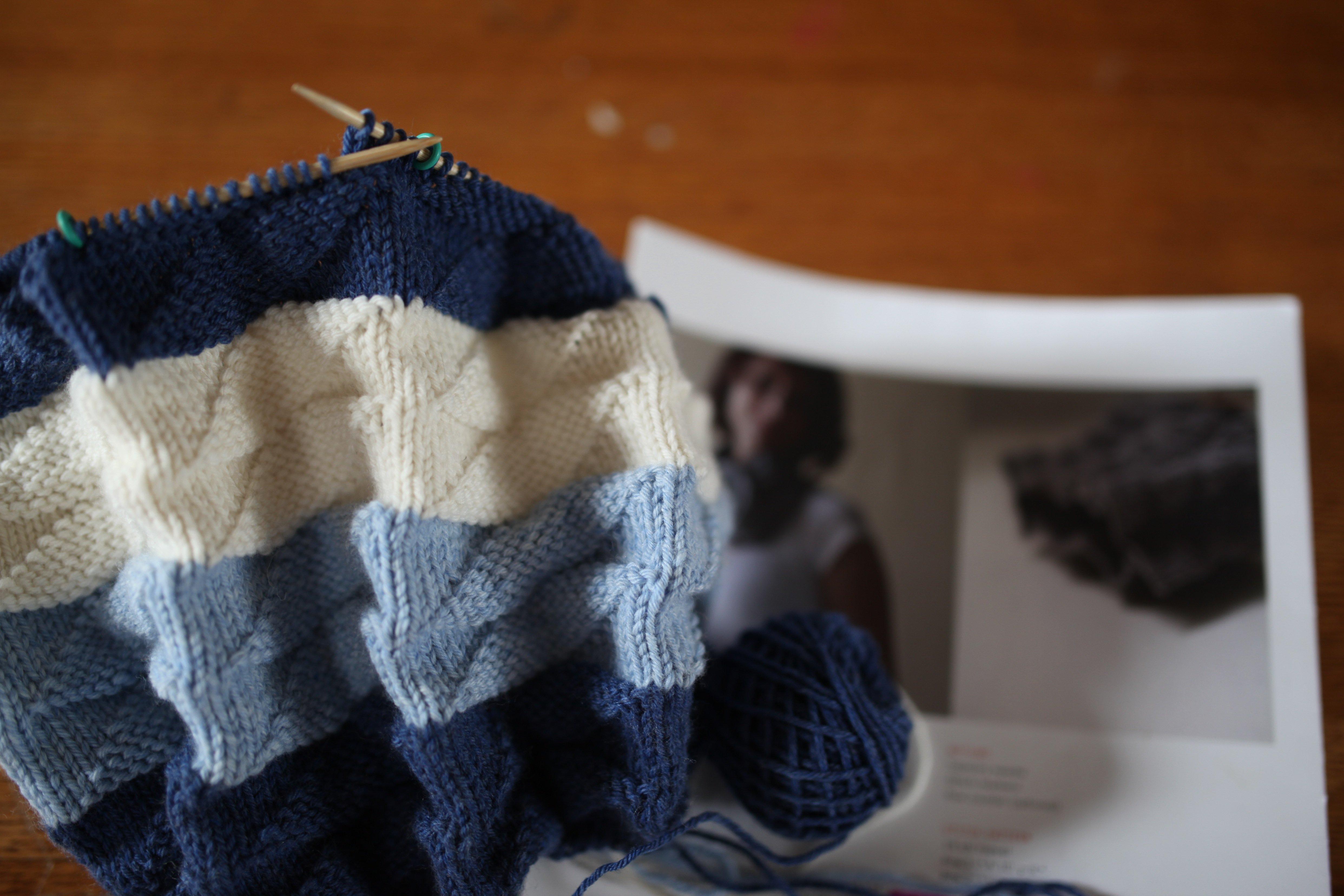 knitting in blue #2
