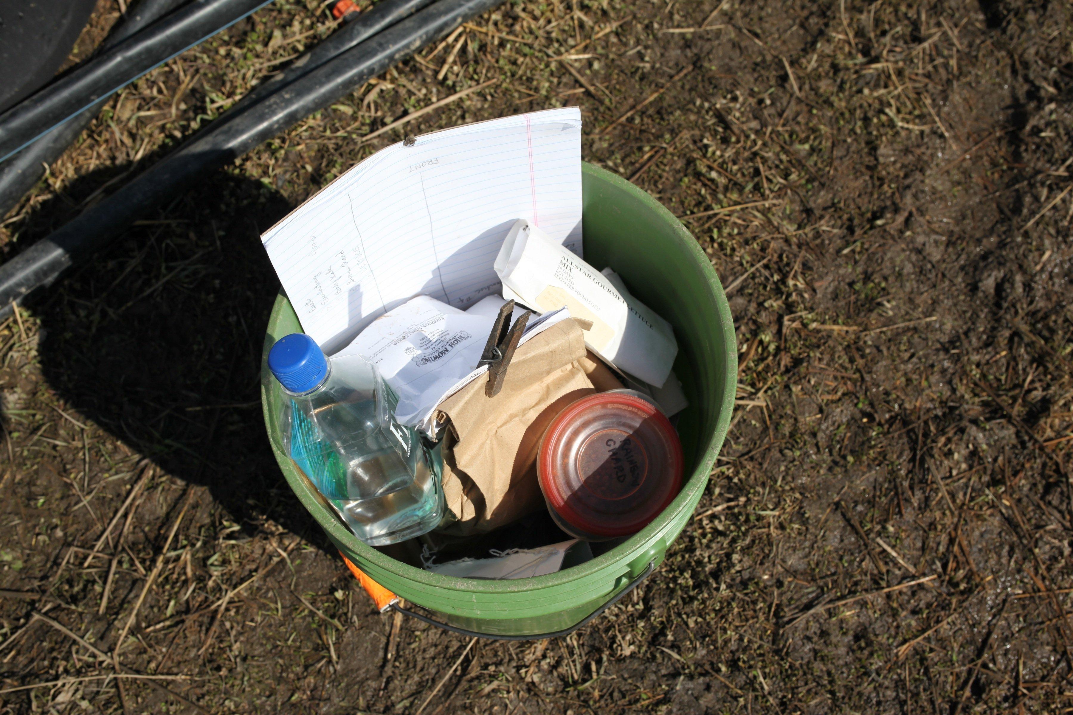 bucket of seeds