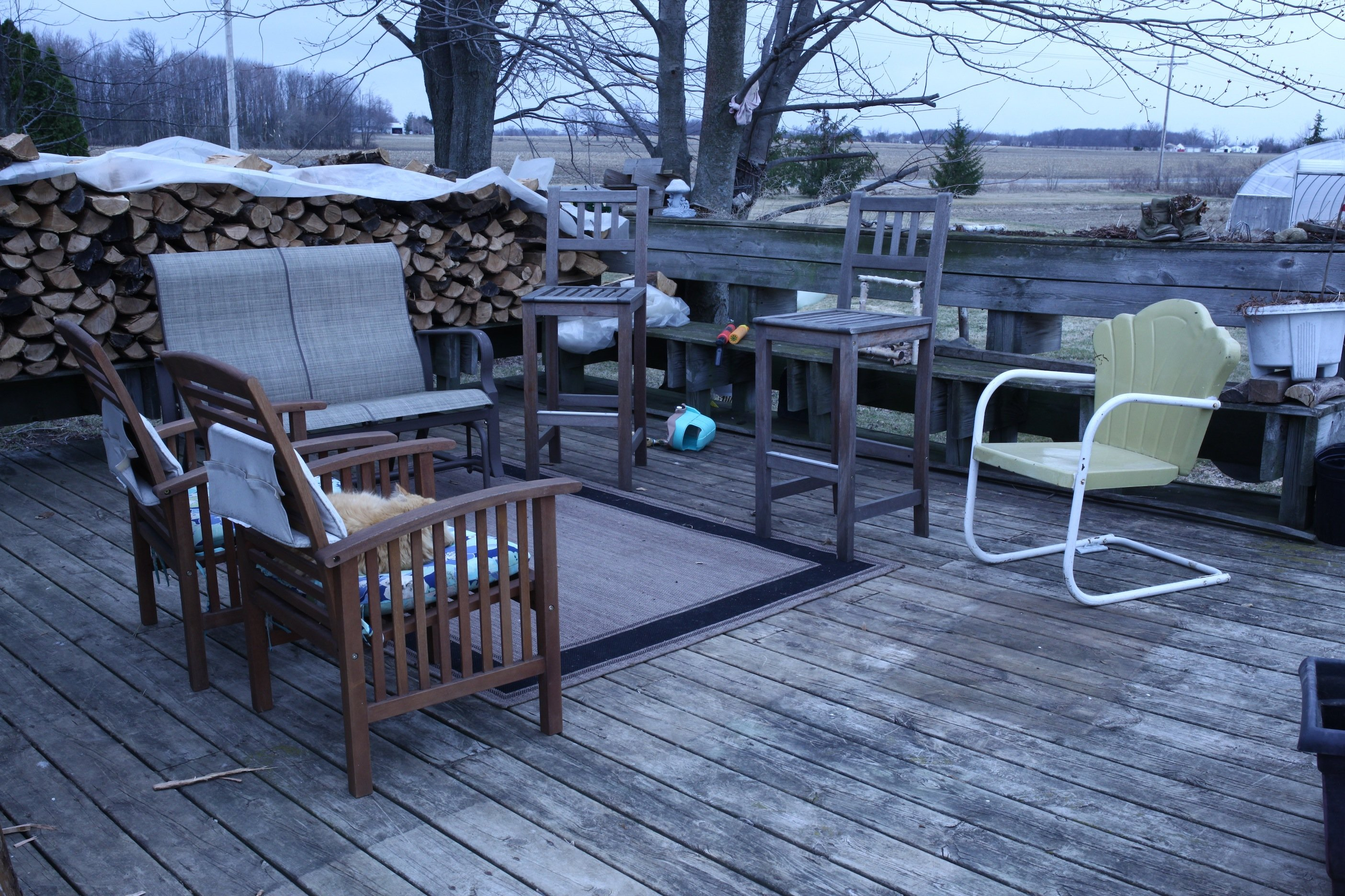 deck in early spring