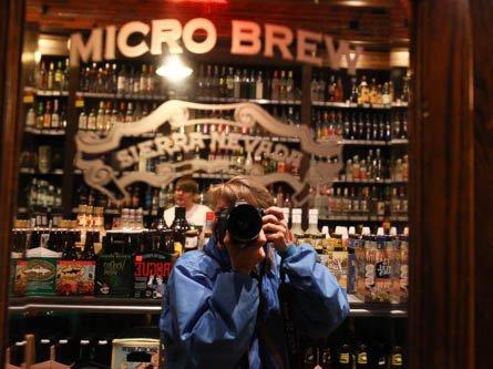 selfie @ micro brew @ Freddies